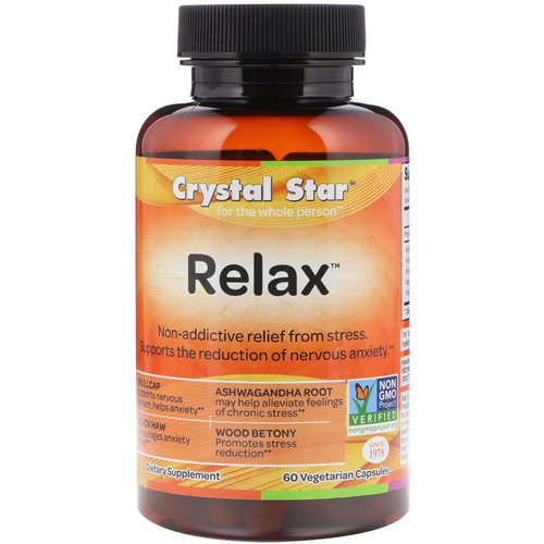 Crystal Star, Relax, 60 Vegetarian Capsules فوائد