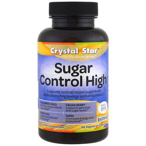 Crystal Star, Sugar Control High, 60 Veggie Caps فوائد
