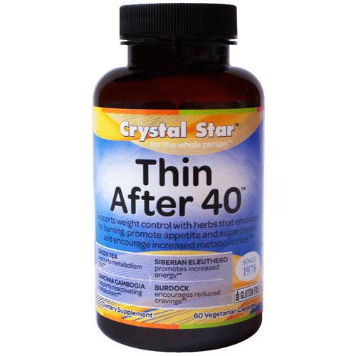 Crystal Star, Thin After 40, 60 Veggie Caps فوائد