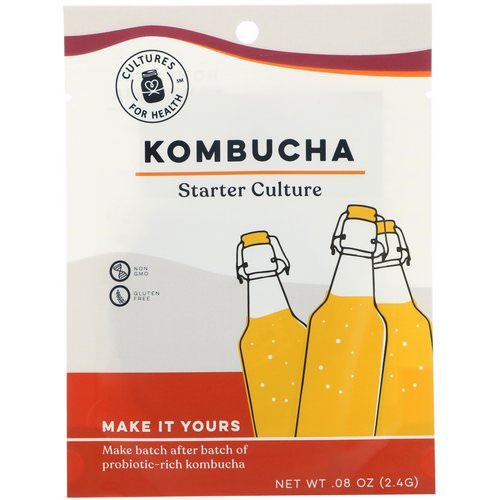 Cultures for Health, Kombucha, 1 Packet, .08 oz (2.4 g) فوائد
