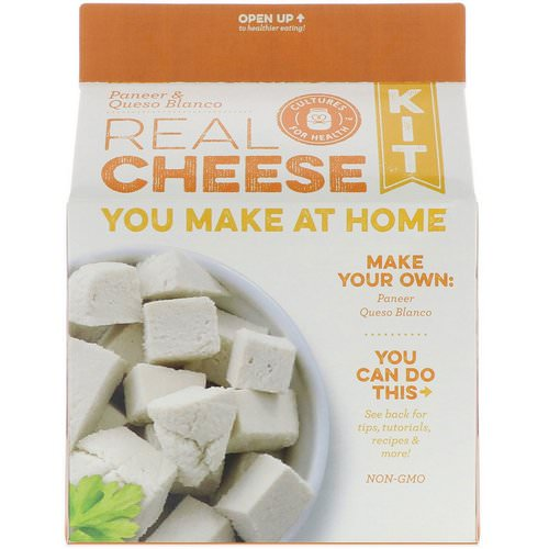 Cultures for Health, Real Cheese Kit, Paneer & Queso Blanco, 1 Kit فوائد