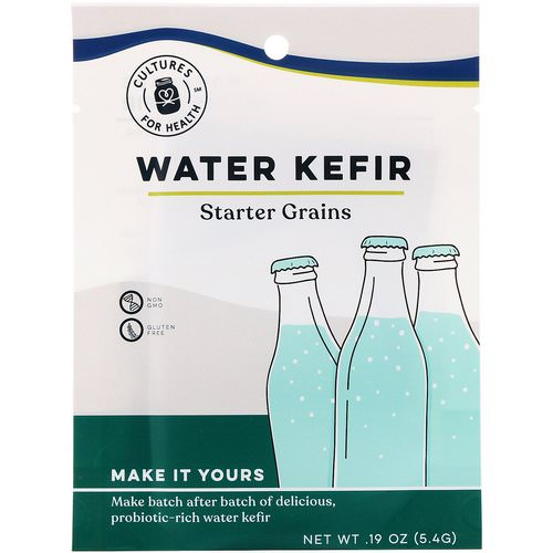 Cultures for Health, Water Kefir, 1 Packet, .19 oz (5.4 g) فوائد