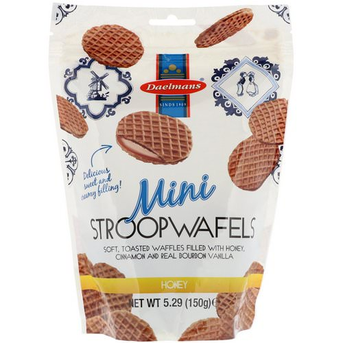 Daelmans, Mini Stroopwafels, Honey, 5.29 oz (150 g) فوائد