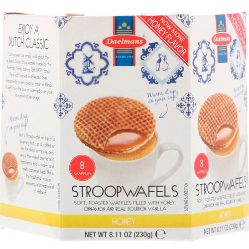 Daelmans, Stroopwafels, Honey, 8 Waffles, 8.11 oz (230 g) فوائد