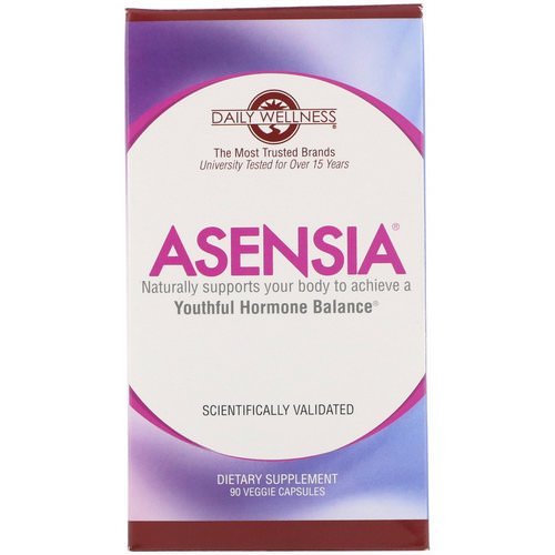 Daily Wellness Company, Asensia, Youthful Hormone Balance, 90 Veggie Capsules فوائد