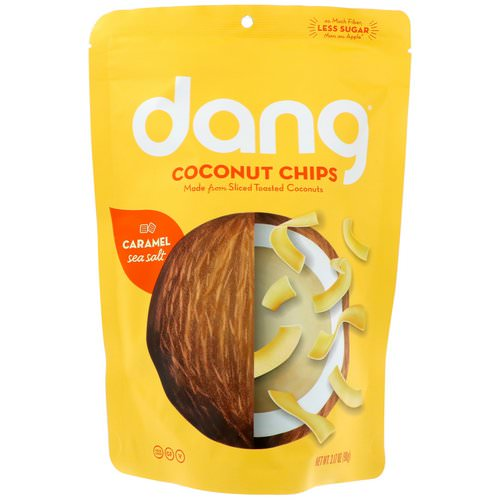 Dang, Coconut Chips, Caramel Sea Salt, 3.17 oz (90 g) فوائد