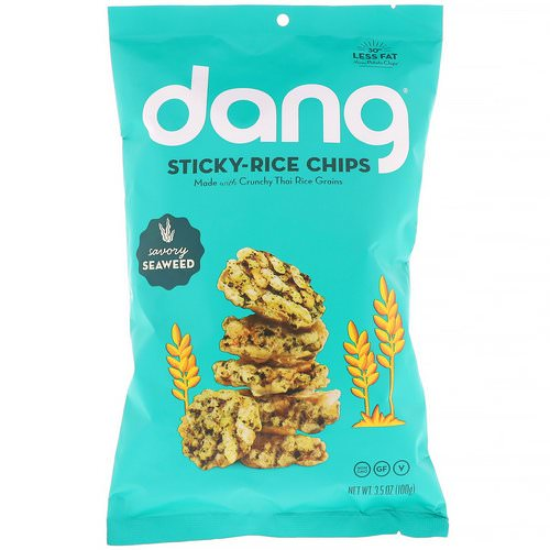 Dang, Sticky-Rice Chips, Savory Seaweed, 3.5 oz (100 g) فوائد