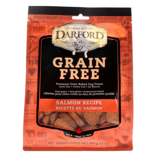 Darford, Grain Free, Premium Oven-Baked Dog Treats, Salmon Recipe, 12 oz (340 g) فوائد