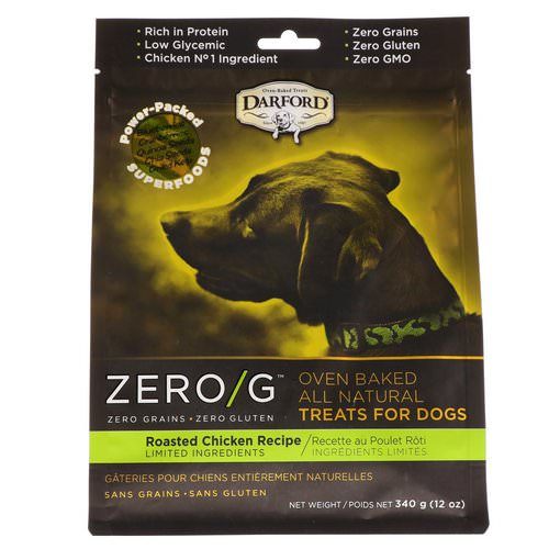 Darford, Zero/G, Oven Baked, All Natural, Treats For Dogs, Roasted Chicken Recipe, 12 oz (340 g) فوائد
