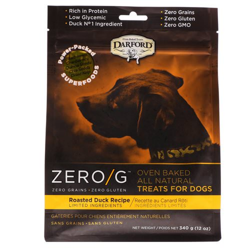 Darford, Zero/G, Oven Baked, All Natural, Treats For Dogs, Roasted Duck Recipe, 12 oz (340 g) فوائد
