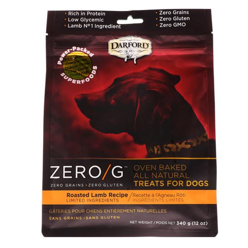 Darford, Zero/G, Oven Baked, All Natural, Treats For Dogs, Roasted Lamb Recipe, 12 oz (340 g) فوائد