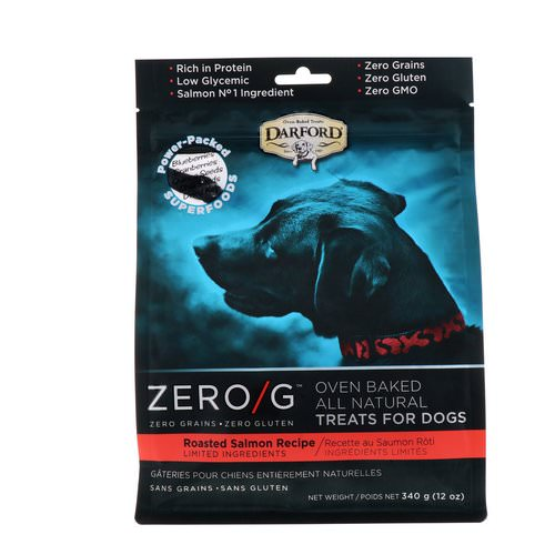 Darford, Zero/G, Oven Baked, All Natural, Treats For Dogs, Roasted Salmon Recipe, 12 oz (340 g) فوائد