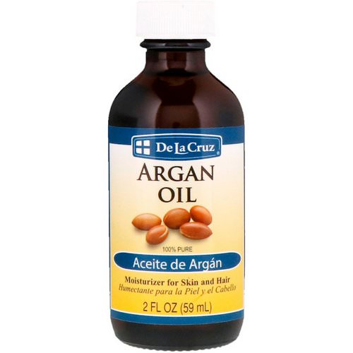 De La Cruz, Argan Oil, 100% Pure, 2 fl oz (59 ml) فوائد