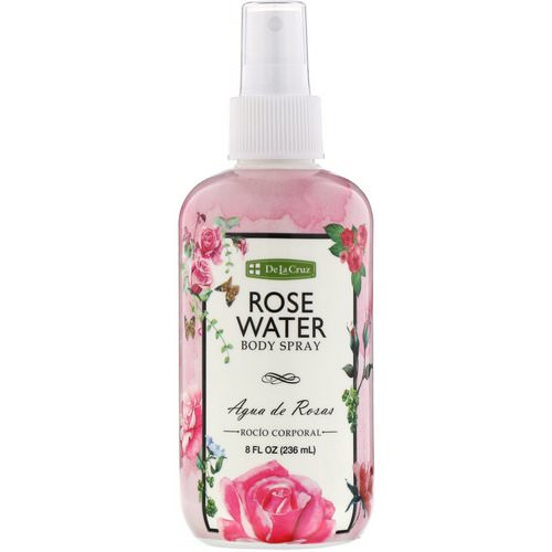 De La Cruz, Rose Water Body Spray, 8 fl oz (236 ml) فوائد
