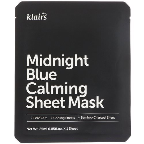 Dear, Klairs, Midnight Blue Calming Sheet Mask, 1 Mask, 0.85 fl oz (25 ml) فوائد