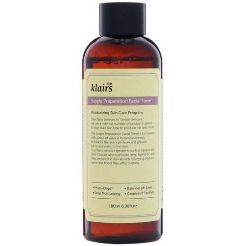Dear, Klairs, Supple Preparation Facial Toner, 6.08 fl oz (180 ml) فوائد