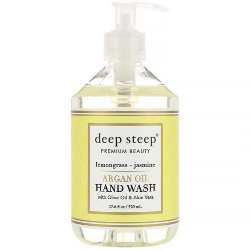 Deep Steep, Argan Oil Hand Wash, Lemongrass-Jasmine, 17.6 fl oz (520 ml) فوائد