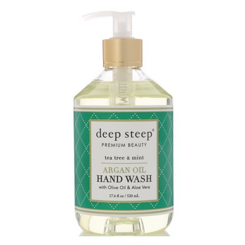 Deep Steep, Argan Oil Hand Wash, Tea Tree & Mint, 17.6 fl oz (520 ml) فوائد