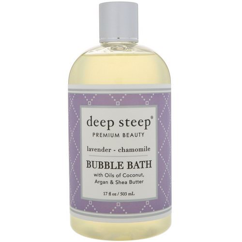 Deep Steep, Bubble Bath, Lavender - Chamomile, 17 fl oz (503 ml) فوائد