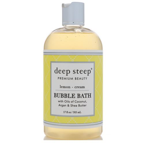 Deep Steep, Bubble Bath, Lemon - Cream, 17 fl oz (503 ml) فوائد