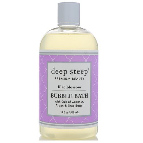 Deep Steep, Bubble Bath, Lilac Blossom, 17 fl oz (503 ml) فوائد