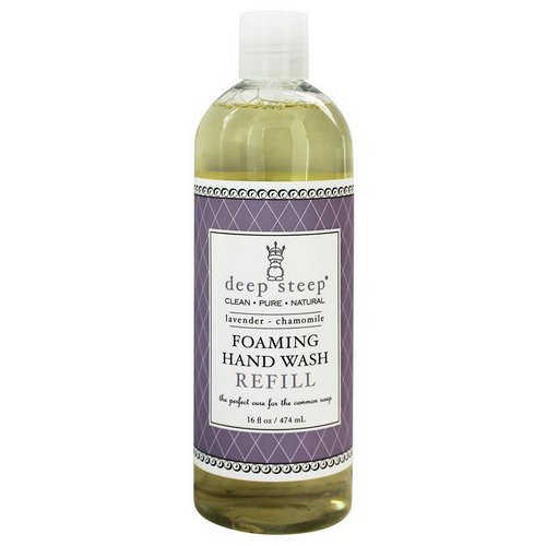 Deep Steep, Foaming Hand Wash, Refill, Lavender - Chamomile, 16 fl oz (474 ml) فوائد