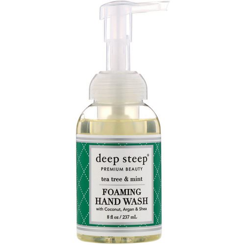 Deep Steep, Foaming Hand Wash, Tea Tree & Mint, 8 fl oz (237 ml) فوائد