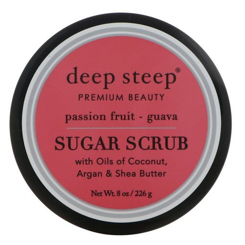 Deep Steep, Sugar Scrub, Passion - Fruit Guava, 8 oz (226 g) فوائد