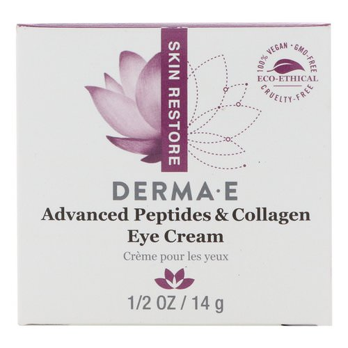 Derma E, Advanced Peptides & Collagen Eye Cream, 1/2 oz (14 g) فوائد