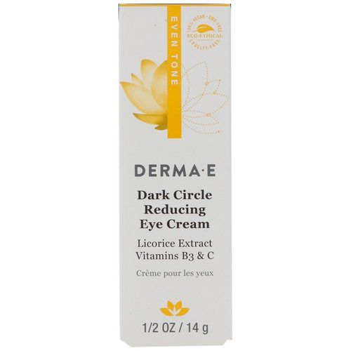 Derma E, Dark Circle Reducing Eye Cream, 1/2 oz (14 g) فوائد