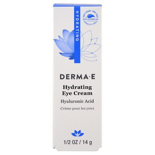 Derma E, Hydrating Eye Cream with Hyaluronic Acid, 1/2 oz (14 g) فوائد