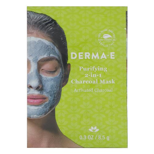 Derma E, Purifying 2-in-1 Charcoal Mask, 0.3 oz (8.5 g) فوائد