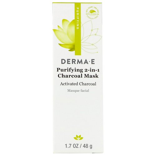 Derma E, Purifying 2-in-1 Charcoal Mask, 1.7 oz (48 g) فوائد