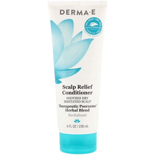 Derma E, Scalp Relief Conditioner, Soothes Dry Irritated Scap, Therapeutic Psorzema Herbal Bland, 8 fl oz (236 ml) فوائد