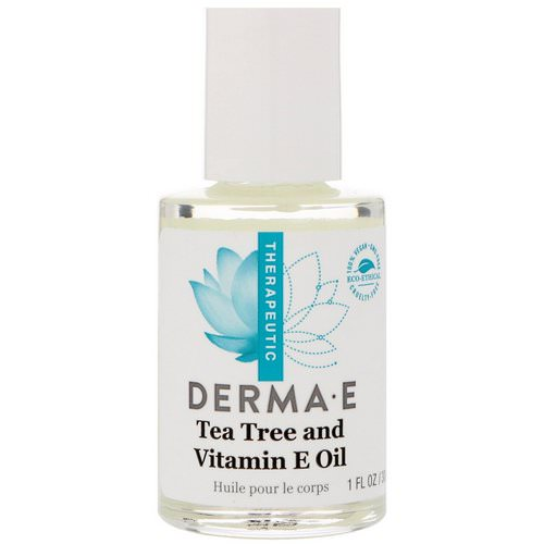 Derma E, Tea Tree and Vitamin E Oil, 1 fl oz (30 ml) فوائد