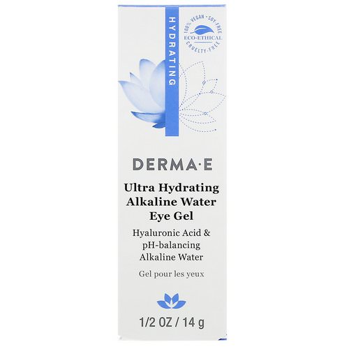 Derma E, Ultra Hydrating Alkaline Water Eye Gel, 0.5 oz (14 g) فوائد