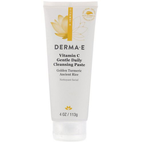 Derma E, Vitamin C, Gentle Daily Cleansing Paste, 4 oz (113 g) فوائد
