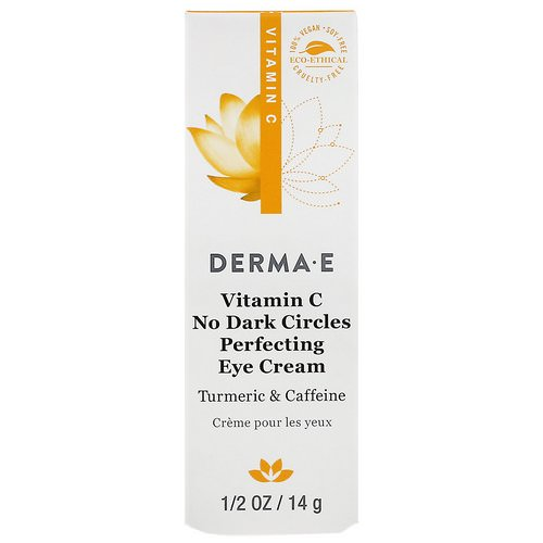 Derma E, Vitamin C, No Dark Circles Perfecting Eye Cream, 0.5 oz (14 g) فوائد