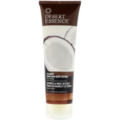 Desert Essence, Hand and Body Lotion, Coconut, 8 fl oz (237 ml) فوائد
