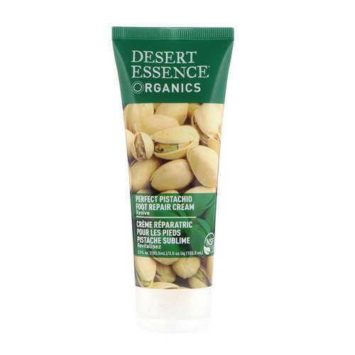 Desert Essence, Organics, Foot Repair Cream, Perfect Pistachio, 3.5 fl oz (103.5 ml) فوائد