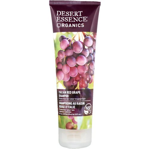Desert Essence, Organics, Shampoo, Italian Red Grape, 8 fl oz (237 ml) فوائد