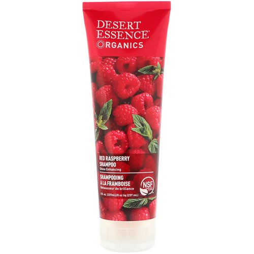 Desert Essence, Organics, Shampoo, Red Raspberry, 8 fl oz (237 ml) فوائد