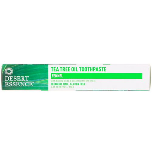 Desert Essence, Tea Tree Oil Toothpaste, Fennel, 6.25 oz (176 g) فوائد
