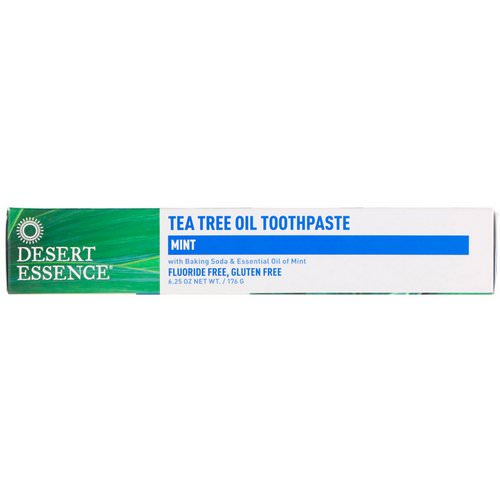 Desert Essence, Tea Tree Oil Toothpaste, Mint, 6.25 oz (176 g) فوائد