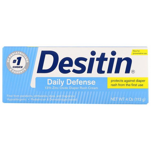 Desitin, Diaper Rash Cream, Daily Defense, 4 oz (113 g) فوائد