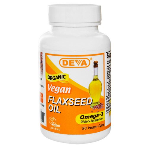Deva, Vegan, Flaxseed Oil, Omega-3, 90 Vegan Caps فوائد