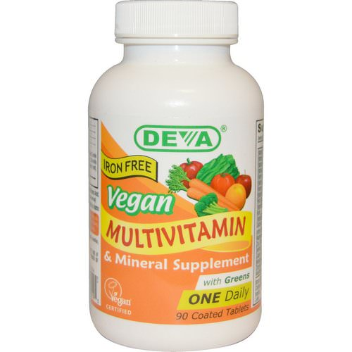 Deva, Vegan, Multivitamin & Mineral Supplement, Iron Free, 90 Coated Tablets فوائد
