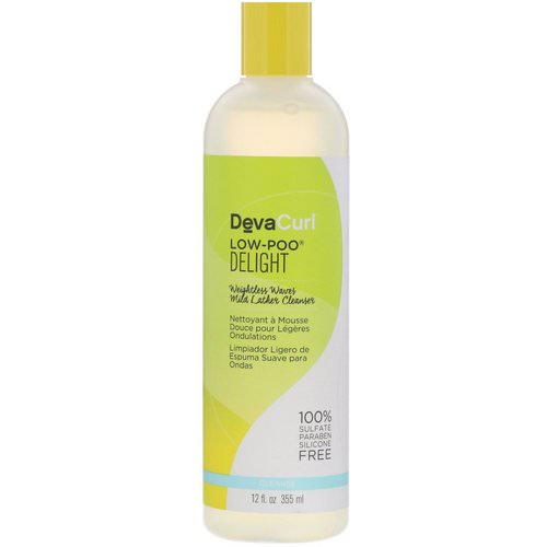 DevaCurl, Low-Poo, Delight, Weightless Waves Mild Lather Cleanser, 12 fl oz (355 ml) فوائد
