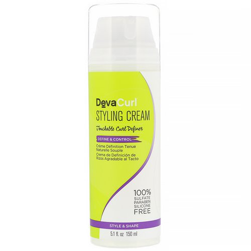 DevaCurl, Styling Cream, Touchable Curl Definer, Define & Control, 5.1 fl oz (150 ml) فوائد