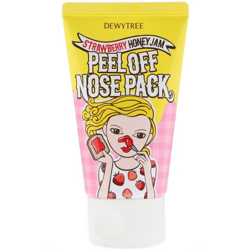 Dewytree, 1 Step Nose Care, Peel Off Nose Pack, Strawberry Honey Jam, 70 ml فوائد